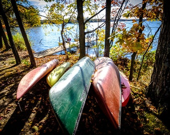 z| COLORFUL CANOES