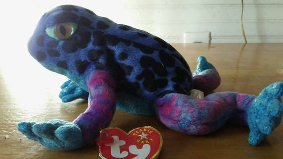 Items similar to TY Beanie Babies Baby Dart Rain Forest Frog Toad Plush  Stuffed Animal Retired with Tags on Etsy b57fe8b1924