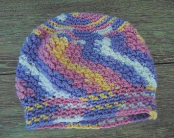 Crochet, Hat, Infant, One of a Kind, Multicolour