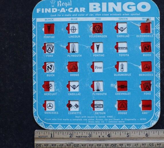 Vintage trafic BINGO / jeu Vintage / bingo voiture cartes / altérée Art /  Sepia /