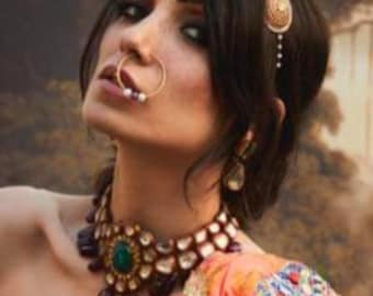 Indian Nose Ring Nath Jewelry Bridal Jewellery Nose Studs Etsy