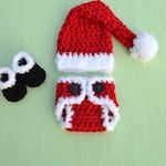Newborn Baby Christmas Outfit Santa Claus Outfit Santa Baby Crochet Baby Christmas Outfit Christmas Photo Prop Newborn Christmas Pictures