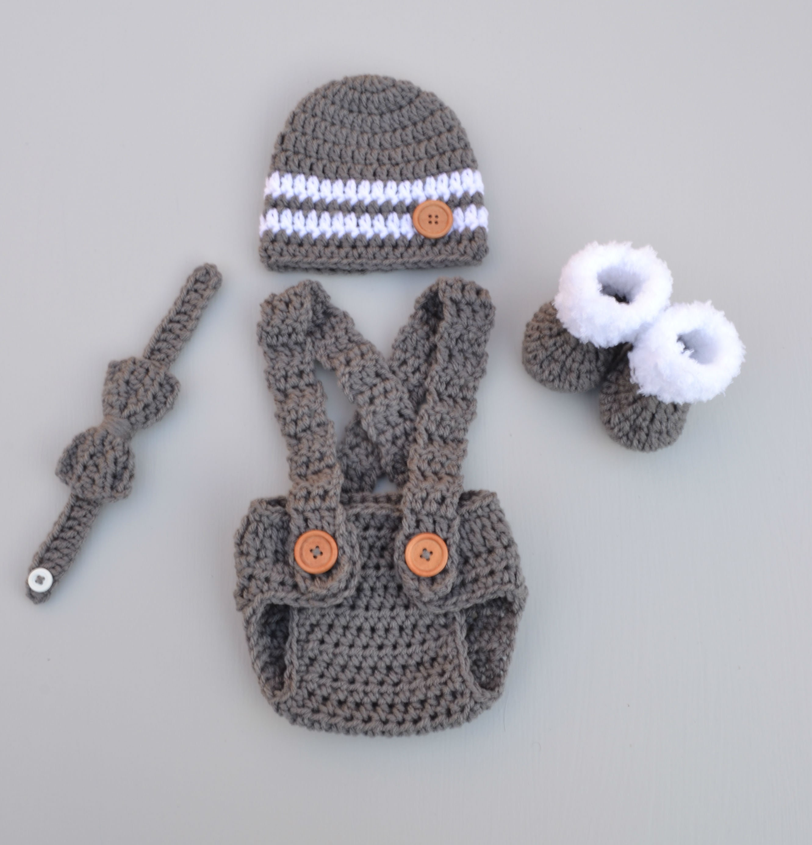 Newborn Boy Photo Outfit Baby Boy Clothes Crochet Baby Outfit Etsy