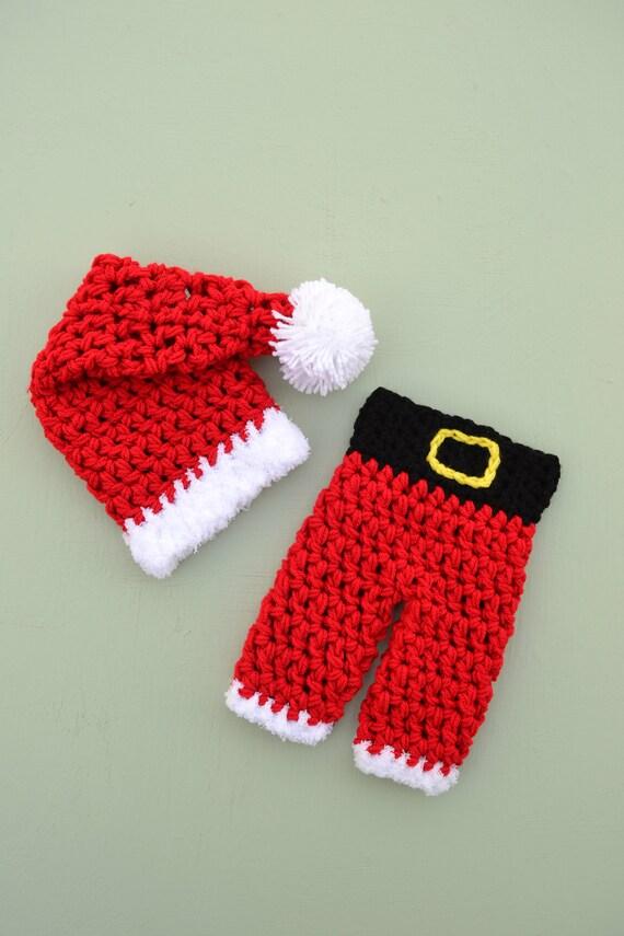 image 0 - Baby Christmas Outfit Santa Hat And Pants Set Baby Santa Etsy