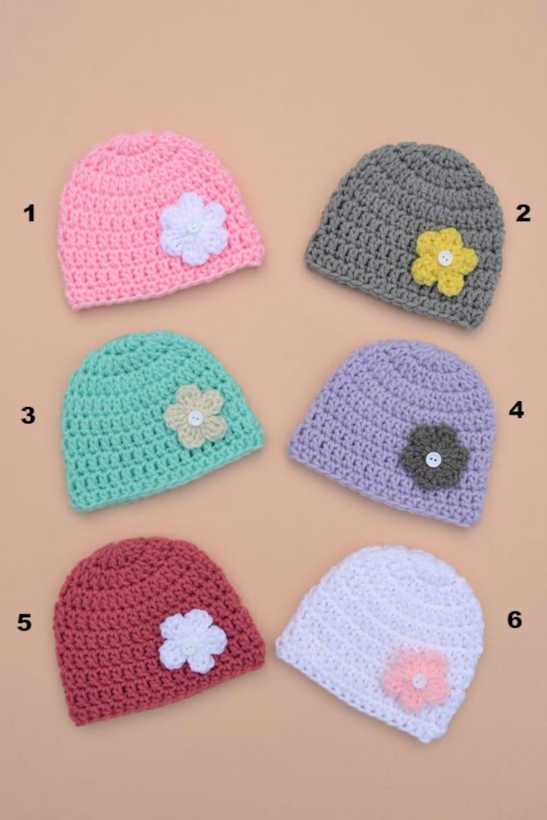 Crochet Newborn Baby Girl Hat Handmade Baby Girl Hat with  88ba8cf6267b