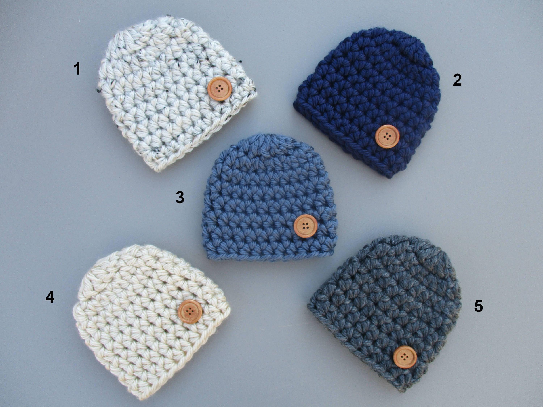 Baby Boy Hat Crochet Baby Hat Baby Boy Beanie Chunky Baby  984c956d8e3