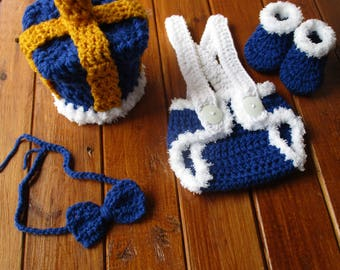 Newborn Baby Crown Diaper Cover Set, Crochet Baby Crown, Baby Crochet Royal King Outfit, Newborn Photo Outfit Boy, Baby Photography Props