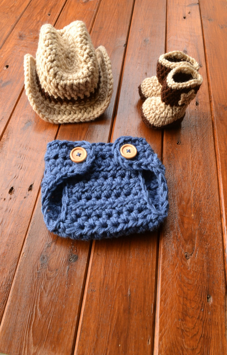 Crochet Baby Cowboy Outfit Cowboy Hat and Boots Set Newborn  52fbc04ea9ed
