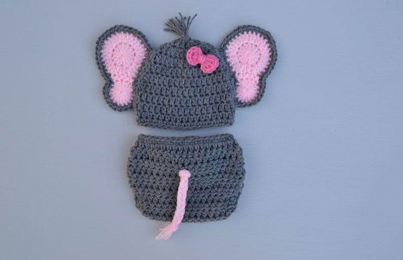 377c922fb26 Crochet Newborn Baby Elephant Outfit Set Baby Elephant Costume