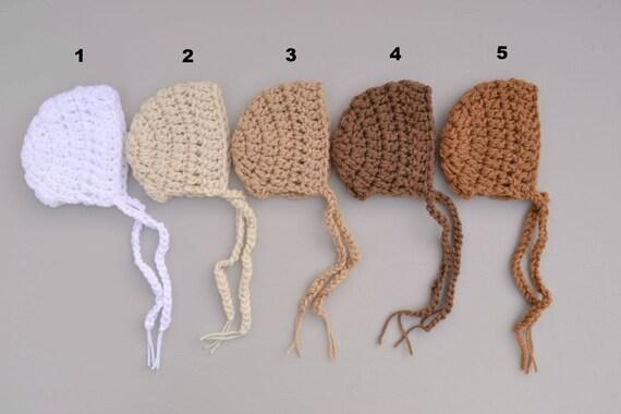 50b0a7880 Crochet Baby Bonnet Baby Boy Girl Bonnet Newborn Baby Bonnet Newborn baby  Photography Prop Baby Boy Bonnet Hat Baby Boy Hat Baby Girl Hat