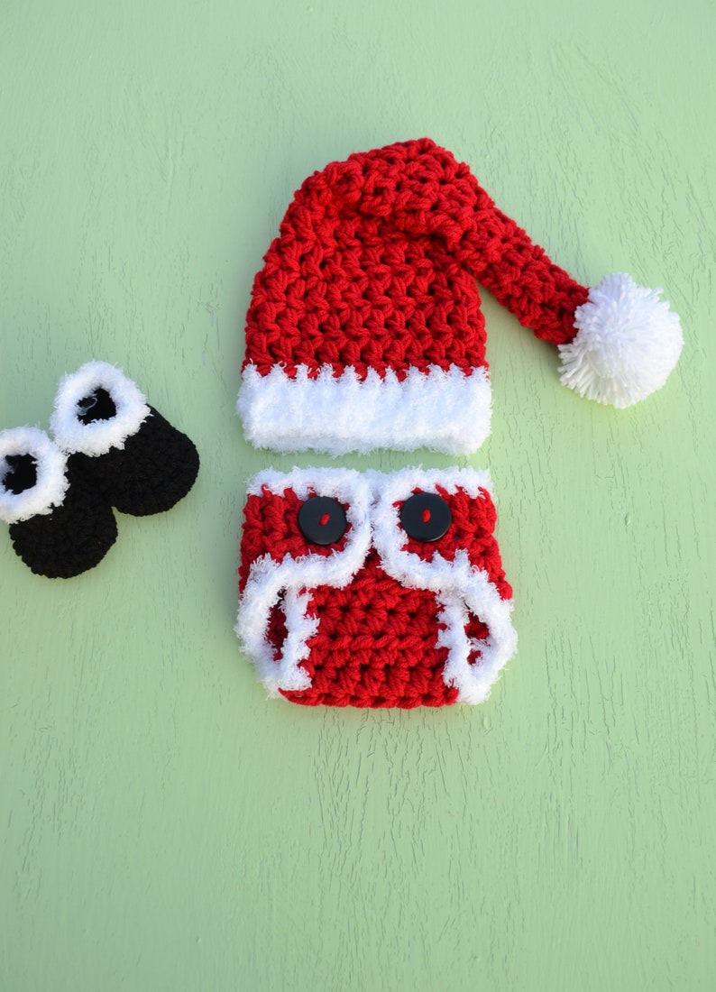 f1e0c21ba1e5e Newborn Baby Noël tenue père Noël tenue Santa Baby Crochet