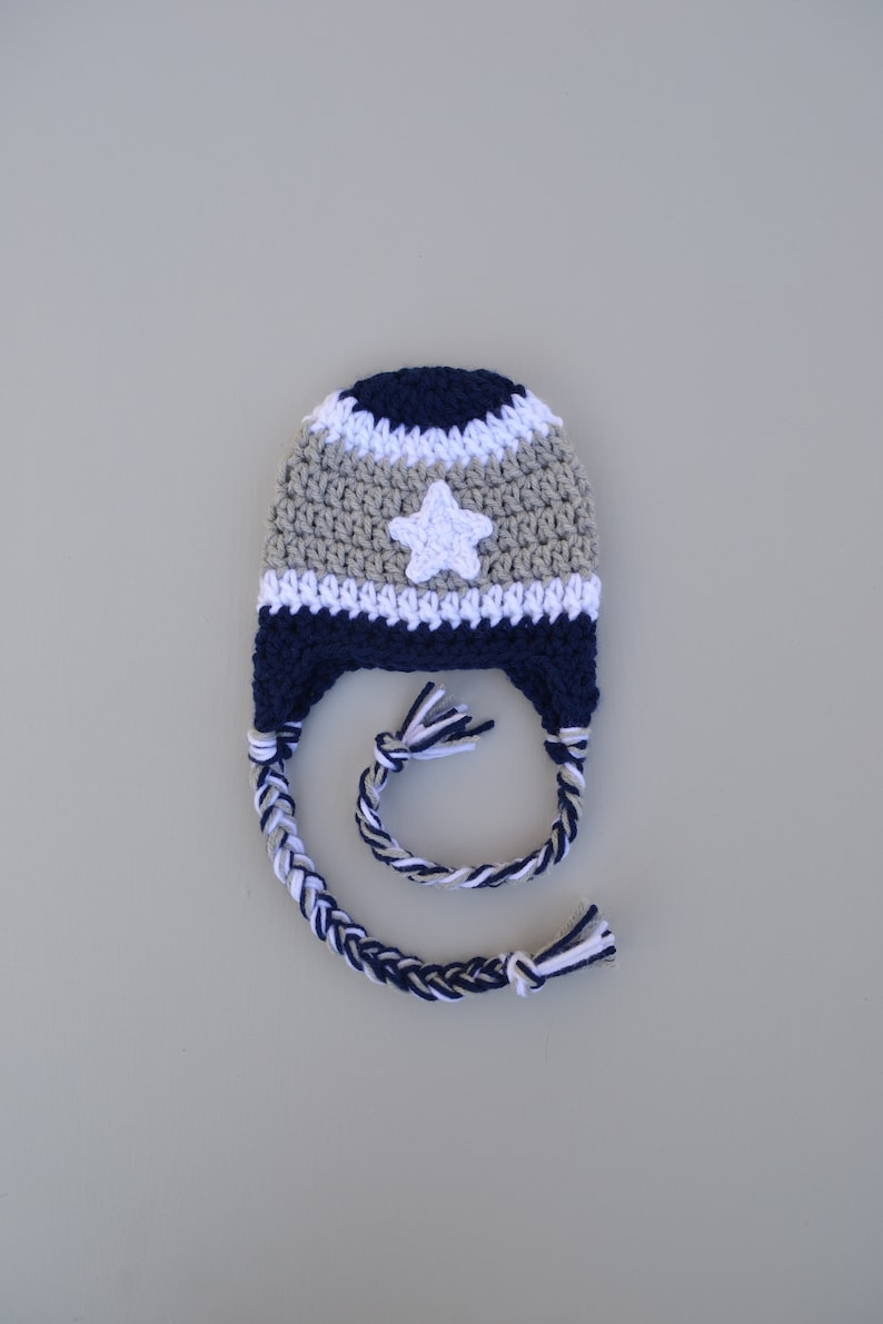Dallas Cowboys Hat Football Hat Beanie Baby Boy Dallas Cowboys Etsy