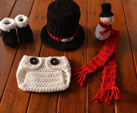 Baby Snowman Outfit Crochet Snowman Outfit Snowman Outfit  b953782d73f