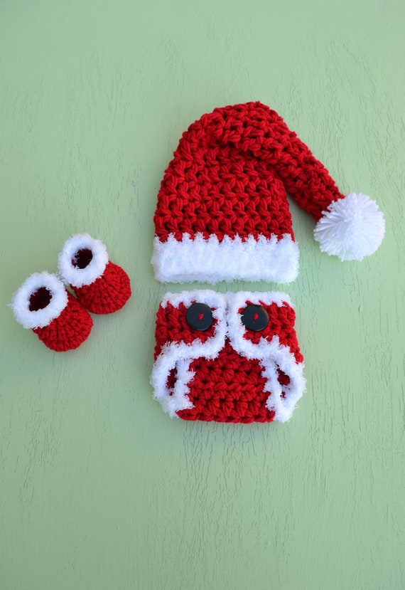 image 0 - Christmas Baby Outfit Crochet Baby Santa Claus Outfit Baby Etsy