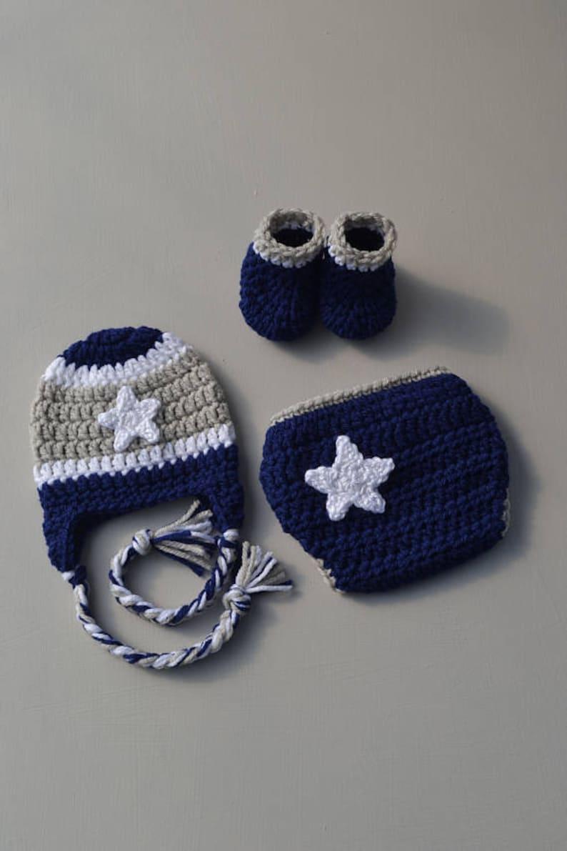 b024b0dce85 Dallas Cowboy Baby Outfit Crochet Dallas Cowboys Navy Dallas
