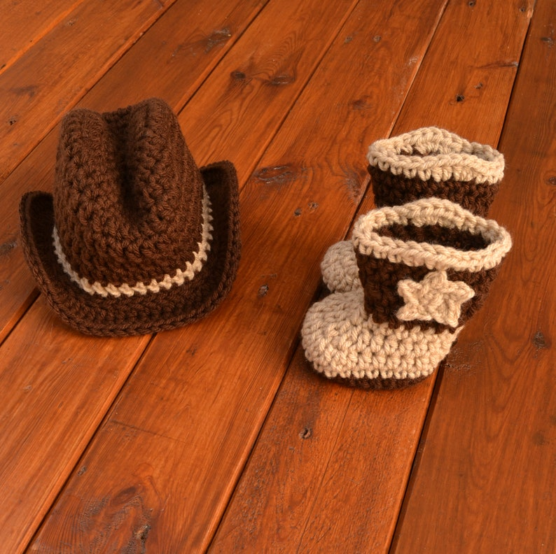 8ffbc389 Cowboy Hat and Boots Set Newborn Cowboy Outfit Cowboy Hat | Etsy