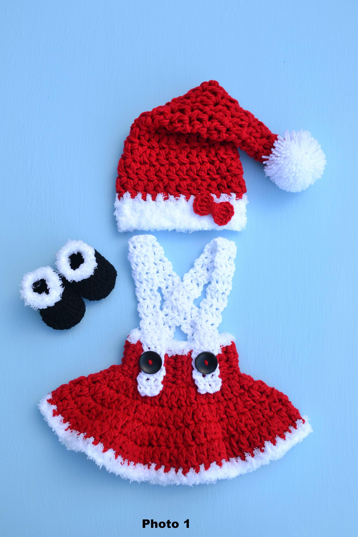 d4f318d2b Baby Girl Santa Claus Set Newborn Santa Outfit Baby Santa | Etsy