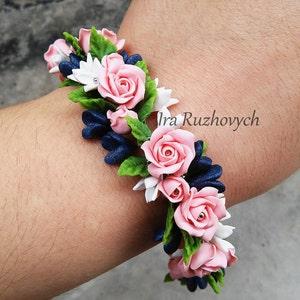 Stunning Vintage Max Neiger White Roses Bracelet