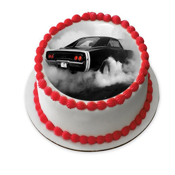 Classic Cars Edible Cake Image Antique Car Cake Fathers Etsy