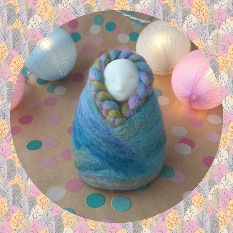 Fertlity/pregnancy/angel doll. All handmade felted Custom Womb image 0