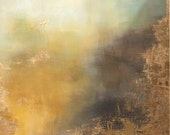 Abstract Painting Gold Le...