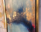 "Gold Leaf Painting Series Abstract - ""Attraction"" 24"" x 36"" each"