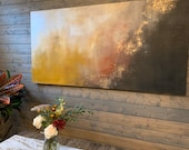 """Large Abstract Painting """"Falling"""" 72"""" x 36"""" on Canvas"""