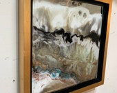 """Gold Leaf Resin on Mirror Framed Painting - 12"""" x 12"""" - Series or Single"""