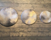 Round Gold Leaf Abstract Painting Moon Series Any Size