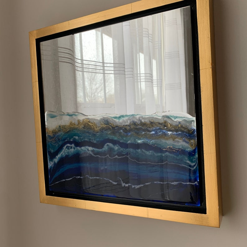Ocean Art on Mirrors Framed Series 14 x 14 each image 0