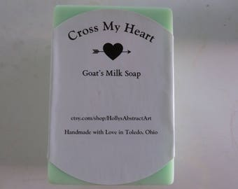 Goat's Milk Soap Bars in Himalayan Bamboo Scent- Cross My Heart Soap Collection