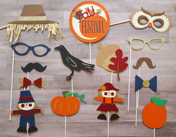 Fall Festival Pumpkin Patch Photo Booth Props Etsy