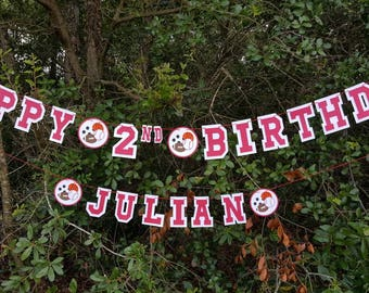 Personalized Sports Birthday Banner