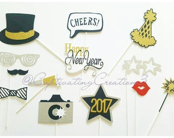 Happy New Year Photo Booth Props
