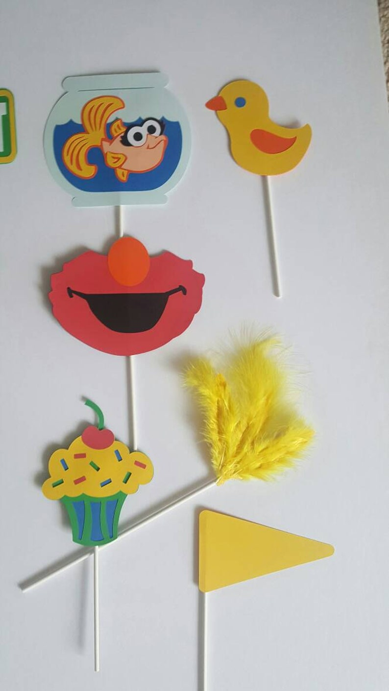 Personalized Primary Colors Photo Booth Props