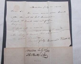 Vintage Letter Dated 1828 Haircomb Antique Correspondance