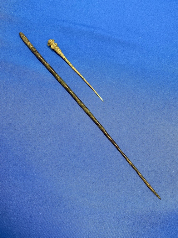 Ancient Bronze Roman Hairpins Dating From 2nd-4th