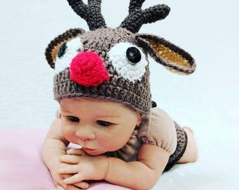 More colors  sc 1 st  Etsy & Crochet reindeer costume | Etsy