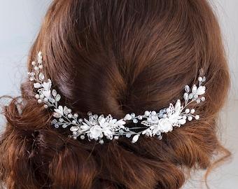 Bridal hairpiece Wedding hairpiece Bridal headband Bridal hair piece Bridal headpiece Wedding headpiece Wedding hair accessories Flower hair