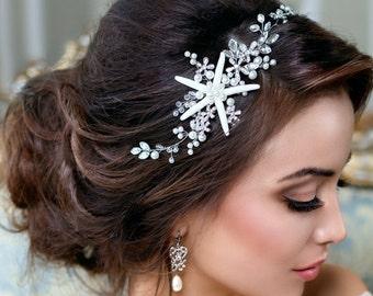 Starfish headpiece Beach wedding hair accessories Starfish crown Beach  Bridal Headband Beach Bridal Tiara Mermaid hairpiece Beach headpiece c40cb721549a