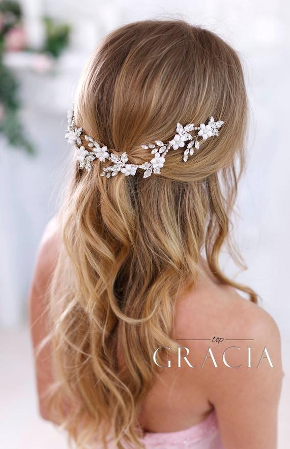 Crystal Headband Bridal Hair Flowers Bridal Hair Jewelry Etsy