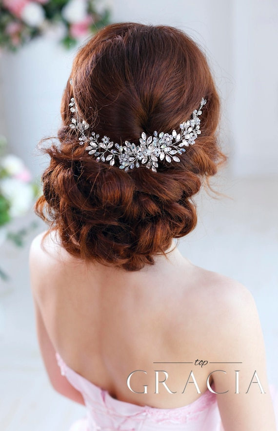 BALI white vintage Art Deco feather Bridal diamant\u00e9 crystal rhinestones lace head piece HAIR fascinator barrettes CLIP grips