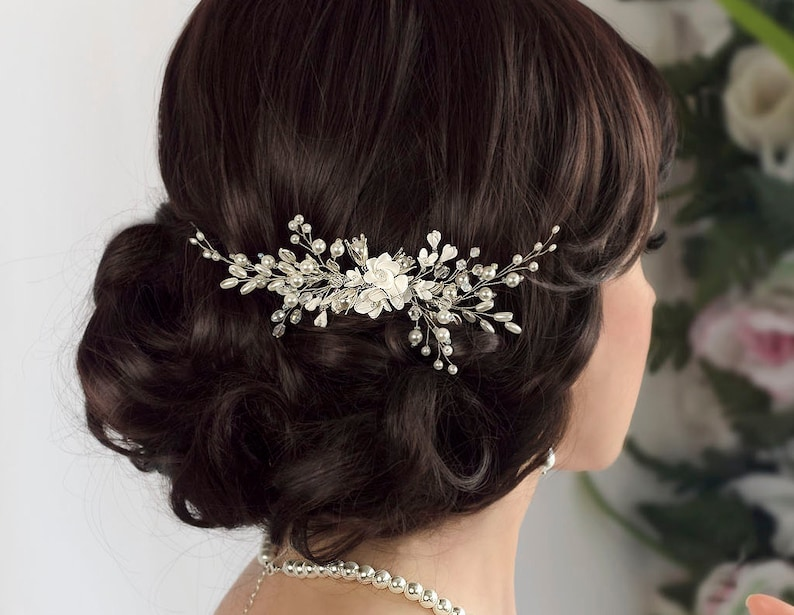 Bridal hair comb Bridal comb Pearl hair comb Wedding Hair image 0