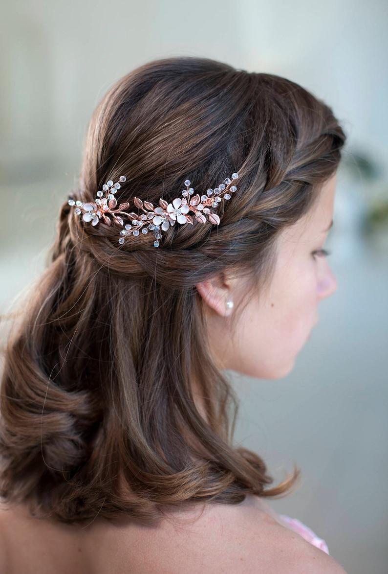 3bf90feea14098 Rose gold Braut Haar Stifte Rose gold Hochzeit Haar Accessoire | Etsy