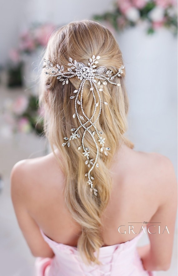 Discount 25/% Gold bridal hair vine Wedding Hair Vine Gold Hair Vine Bridal Tiara Wedding Headpiece Wedding hair accessories Flower headpiece
