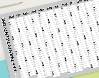 2021 Monochrome Black, White & Grey Wall Calendar