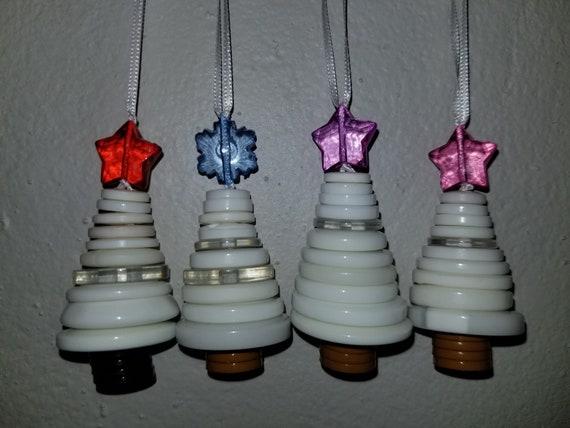 Button Christmas Tree Ornament