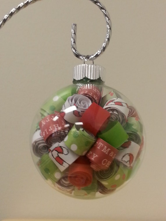 Paper filled glass ornament great gift or wedding favor   Etsy