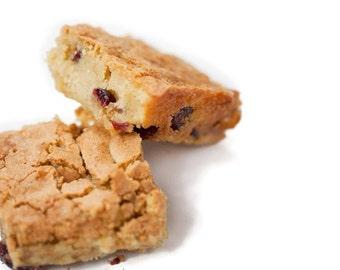 Blonde Walnut Cranberry Brownies