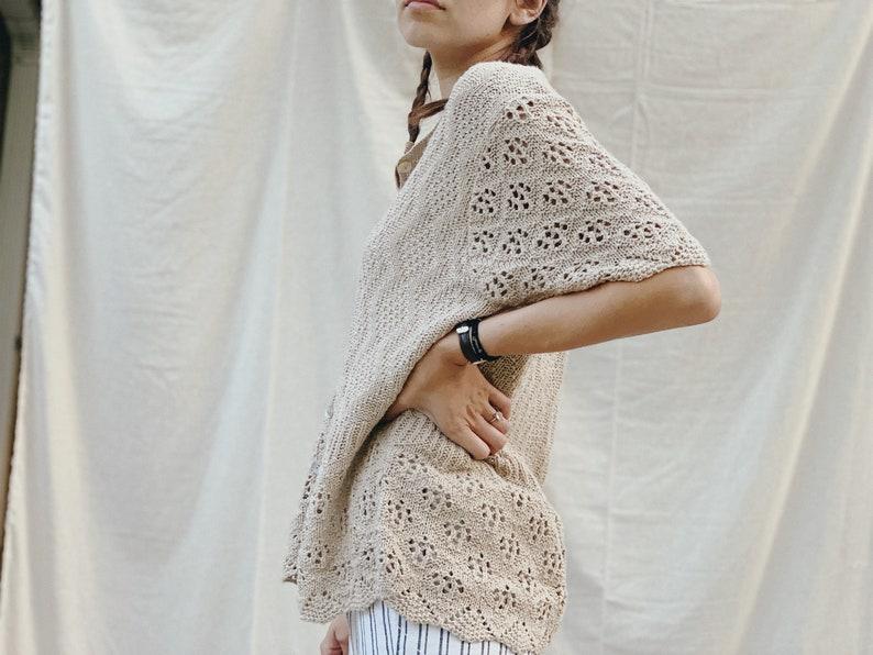 Vintage Oversized Knit Cardigan